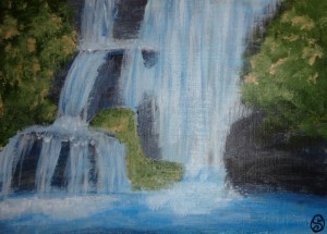 Day 74: Waterfall Sketch